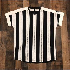 Vintage Adidas Sportswear Vertical Stripe T-Shirt